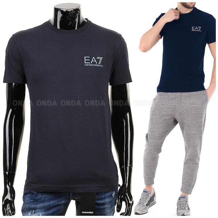 EA7 엠포리오알마니 크루넥 티셔츠 네이비 3YPT84 PJ94Z