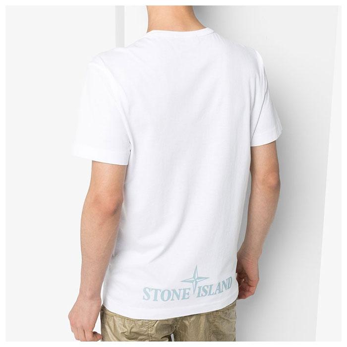 스톤아일랜드 20SS 카모로고 티셔츠 화이트 721523388 V0001